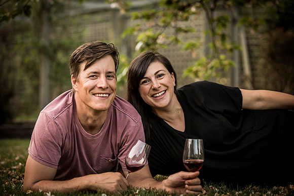 Winemakers, Matthias and Lauren Utzinger