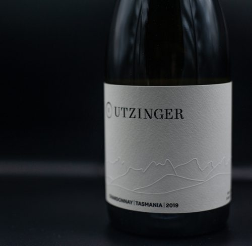 Bottle of Utzinger Chardonnay