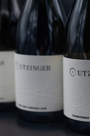 Three bottles of Utzinger Wines