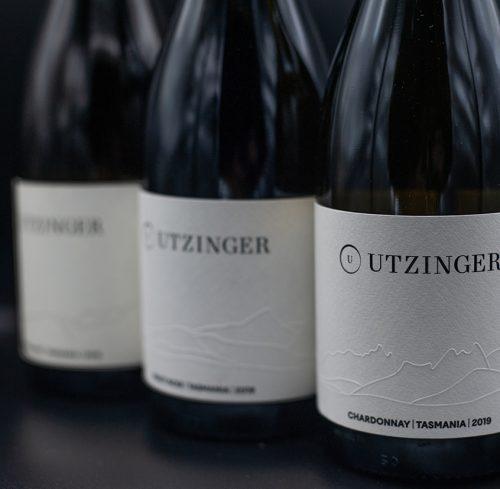 Three bottles of Utzinger Wines